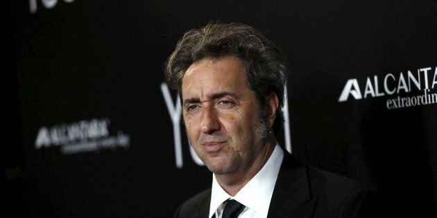 Director of the movie Paolo Sorrentino poses at the premiere