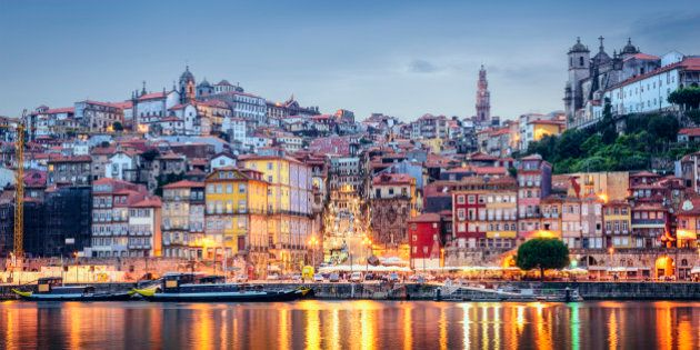 Porto, Portugal cityscape across the Douro