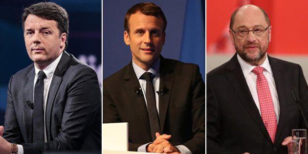 Renzi-Macron-Schulz. L'asse che può avvicinare l'Europa agli