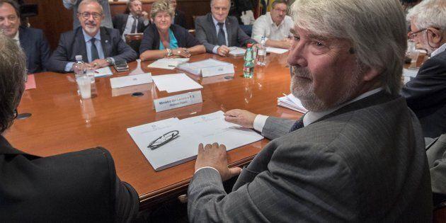 Foto Roberto Monaldo / LaPresse 30-08-2017 Il ministro Poletti incontra i sindacatiNella foto Un momento...