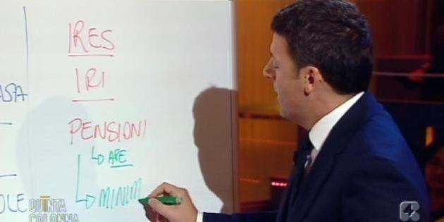 Matteo Renzi a Quinta Colonna per il