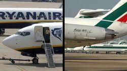 Ryanair si apparecchia il tavolo per lo spezzatino Alitalia: