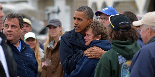 Il fotografo di Obama, ci ricorda come si comportano i presidenti durante i disastri