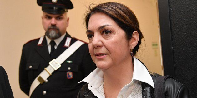 Marika Cassimatis, ex vincitrice delle Comunarie del M5s esautorata da Beppe Grillo, al termine dell'udienza...