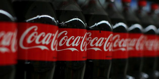 Coca-cola soda is shown on display during a preview of a new Walmart Super Center prior to its opening...