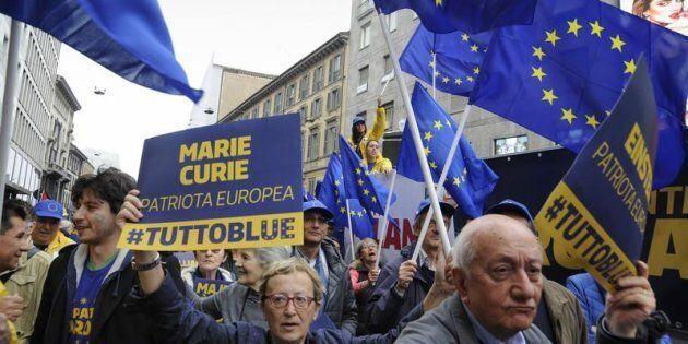 Milano, manifestazione del 25 aprile, anniversario della Liberazione, sfila il PD, Partito Democratico,...