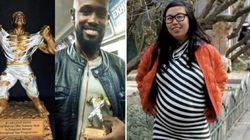 Questa donna incinta ha consegnato un premio al primo (e unico) uomo ad averle ceduto il posto in