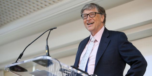 IMAGE DISTRIBUTED FOR 1,000 DAYS - Bill Gates, Co-chair of the Bill & Melinda Gates Foundation, speaks...