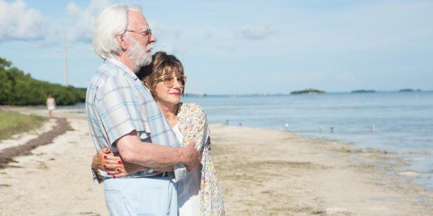 Foto di scena di The Leisure Seeker di Paolo Virz?? con Helen Mirren e Donald Sutherland in concorso...