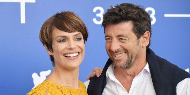 Micaela Ramazzotti and Patrick Bruel attend the 'Una Famiglia' photocall during the 74th Venice Film...