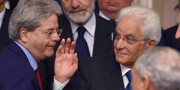 Mattarella e Gentiloni varano il primo governo