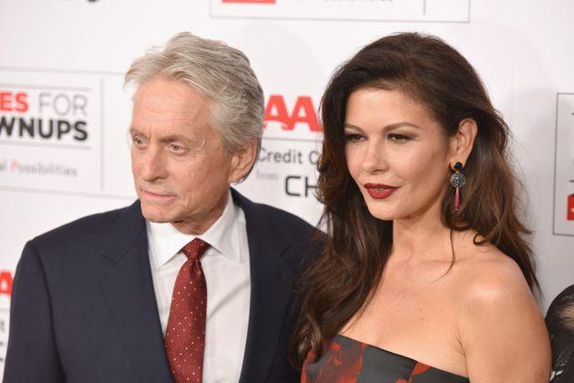 BEVERLY HILLS, CA - FEBRUARY 08: Actors Michael Douglas and Catherine Zeta-Jones attend AARP's 15th Annual...