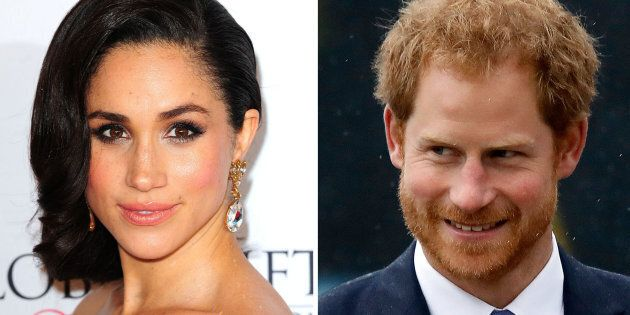 File photos of Meghan Markle and Prince Harry, as Harry's girlfriend has been subject to a