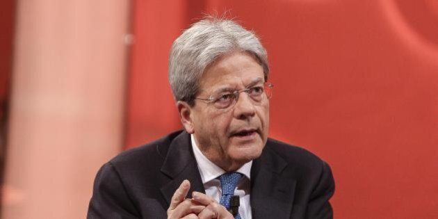 Paolo Gentiloni all'assemblea dei parlamentari Pd: