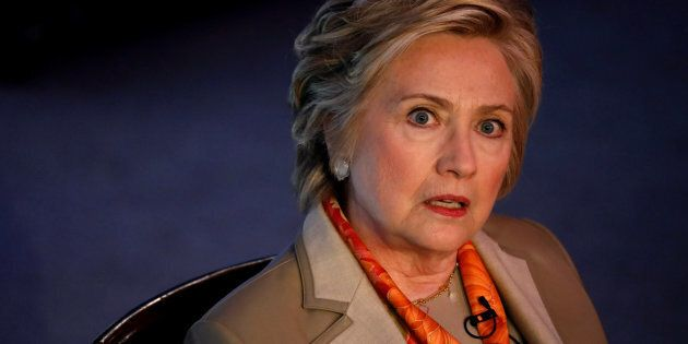 Former U.S. Secretary of State Hillary Clinton takes part in the Women for Women International Luncheon...
