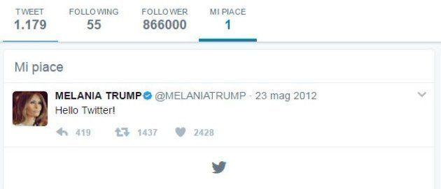 Melania Trump ha messo mi piace a un tweet contro suo