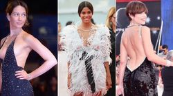 Le trasparenze di quest'anno sul red carpet di Venezia fanno dimenticare l'abito rosso di Bella