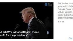 Usa Today riscrive la sua storia e chiede ai lettori di non votare