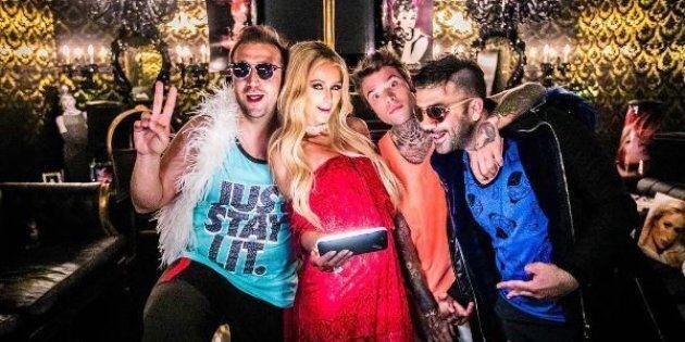 Fedez, Pio e Amedeo ospiti a casa di Paris Hilton :