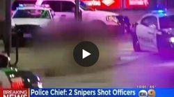 Il momento in cui i cecchini sparano agli agenti