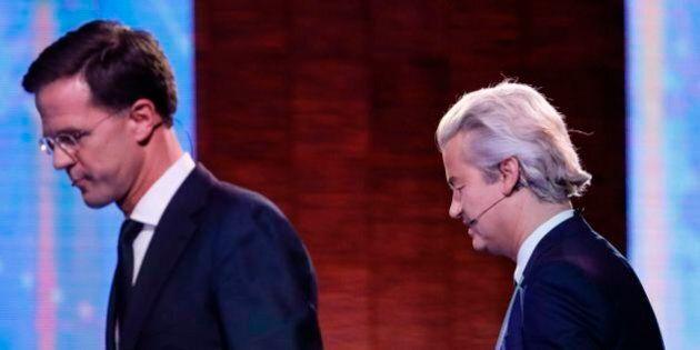 Olanda, vince il partito liberale di destra Vvd. Geert Wilders non sfonda, ma il successo di Rutte è