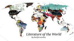 Questa mappa della letteratura del mondo vi farà viaggiare
