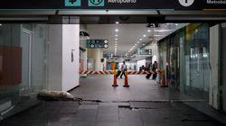 La scossa è così forte che fa sollevare il pavimento dell'Aeroporto di Città del
