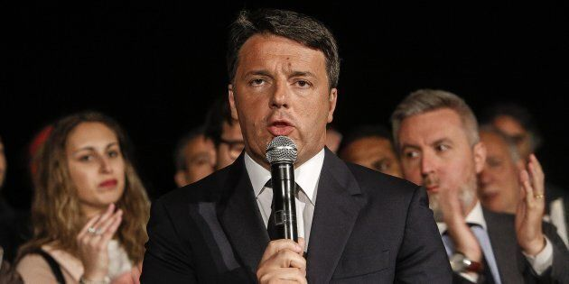 Matteo Renzi nella sede del PD dopo il voto delle primarie, Roma, 30 aprile 2017. ANSA/GIUSEPPE