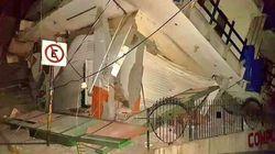 Persone intrappolate in un hotel crollato per il sisma in
