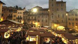 Da Arezzo a Cortona, un natale di giochi d'acqua e luce, un pizzico di design e