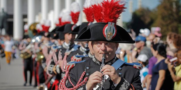 Members of the Carabinieri band of Italy perform during the International Military Orchestra Music