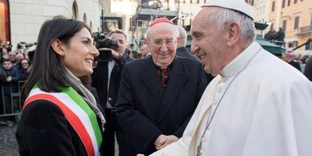 Virginia Raggi ringrazia il Papa per la lettera d'incoraggiamento: