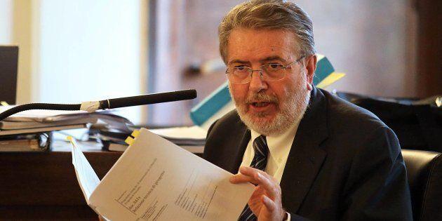 Filippo Penati nell'aula del tribunale di Monza per il processo sul cosiddetto 'Sistema Sesto' che lo...