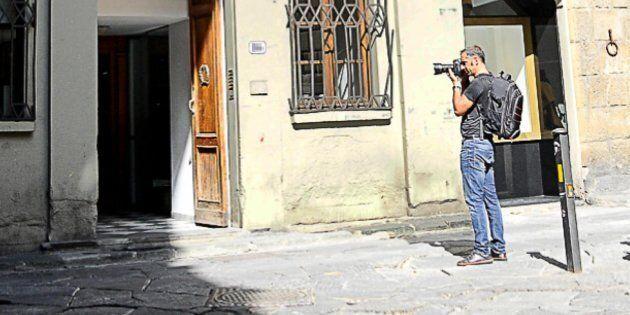 L'esterno del palazzo dove sono state violentate le due ragazze americane a Firenze, 9 settembre 2017....