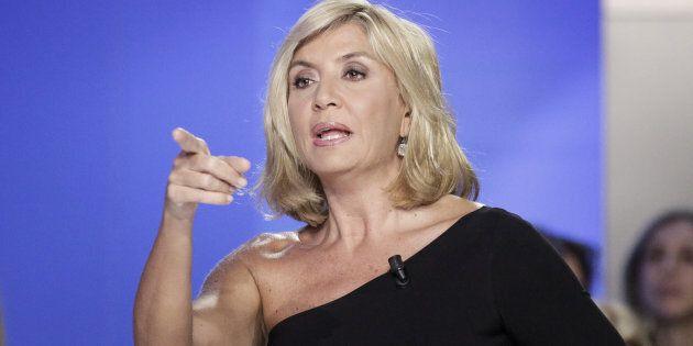 8/02/2016 Roma, La7, trasmissione televisiva L'Aria che Tira, nella foto Myrta