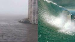 L'uragano Irma trasforma Miami nel set di un film