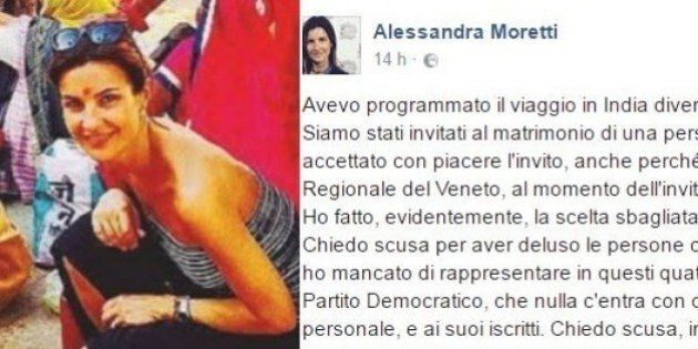 Alessandra Moretti fa mea culpa dopo l'assenza in Consiglio regionale per un viaggio in India: