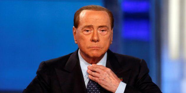 Italy's former Prime Minister Silvio Berlusconi attends television talk