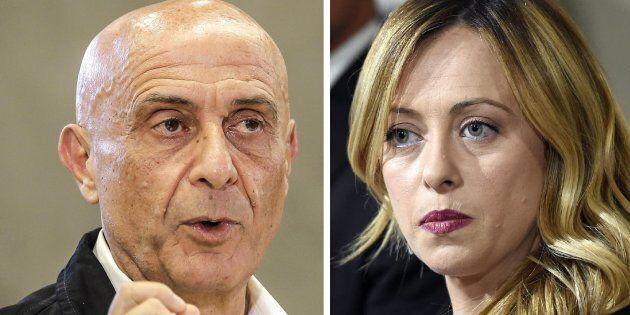 Marco Minniti ospite di Giorgia Meloni alla festa dei