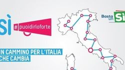 TUTTA L'ITALIA A PIEDI PER CONVINCERE A VOTARE