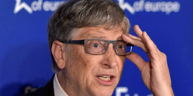 Microsoft founder Bill Gates looks on during a healthcare event in Brussels, Belgium, February 16, 2017....