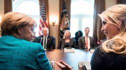 Questa foto di Ivanka Trump e Angela Merkel ha fatto storcere il naso a