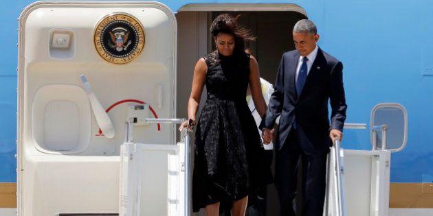 Barack Obama a Dallas per la cerimonia commemorativa dei cinque agenti