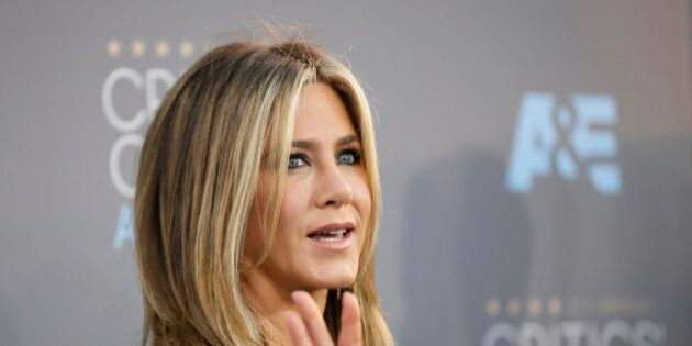 Actress Jennifer Aniston arrives at the 21st Annual Critics' Choice Awards in Santa Monica, California...