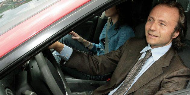 Potenza, ITALY: Potenza prosecutor Henry John Woodcock leaves the prison in Potenza southern of Italy,...