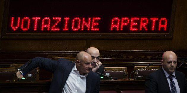 La Camera durante l'esame della legge elettorale Italicum, Roma, 04 maggio 2015. ANSA/ANGELO