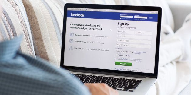 Simferopol, Russia - July 13, 2014: Facebook the largest social network in the world. It was founded...
