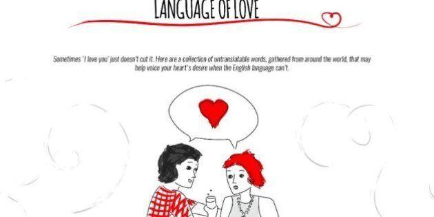 ll linguaggio dell'amore, parole prese in prestito da altre lingue per esprimere emozioni e