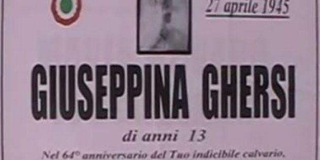 Una targa per Giuseppina Ghersi, la 13enne violentata e uccisa dai partigiani. L'Anpi protesta: