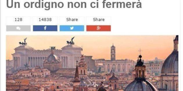 Ordigno sotto casa di un collaboratore della Giunta a Roma. Beppe Grillo e Virginia Raggi: